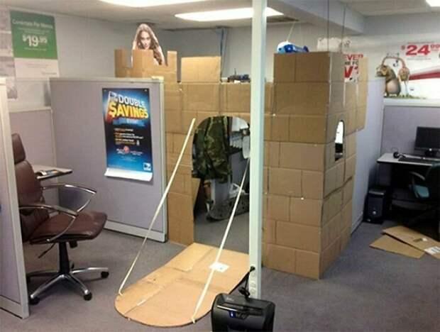 Офисный замок креатив, подборка, поделка, самоделки, сделай сам, скука, фото