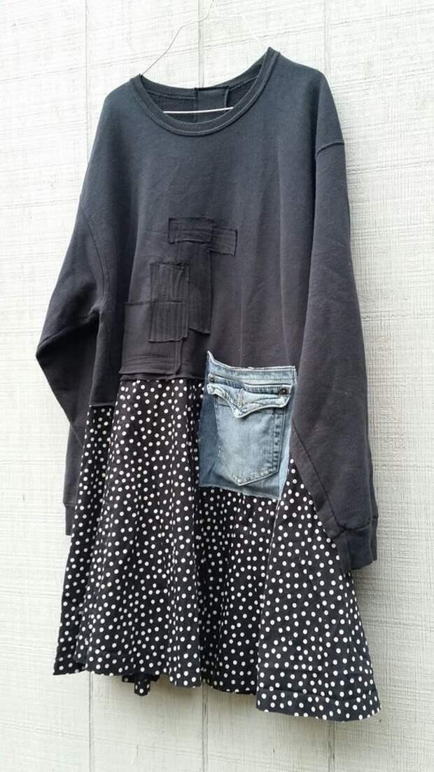 Переделки блузка+кофта