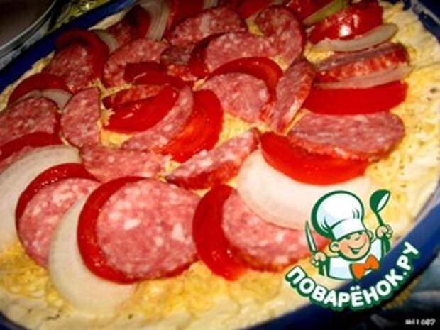 """Лучшая пицца """"А-ля пепперони и двойной сыр"""""""