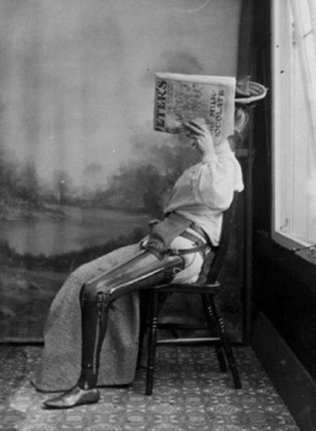 13. Протез ноги, 1890 год.