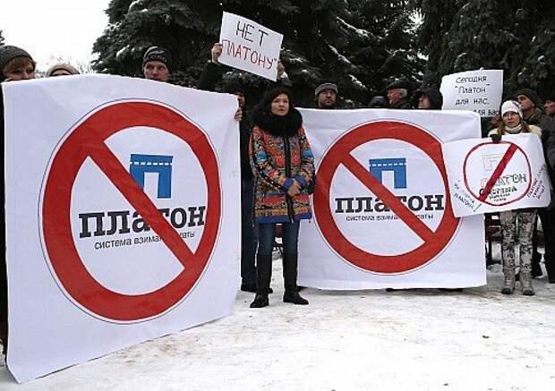 Truck drivers protest in Belgorod, Russia