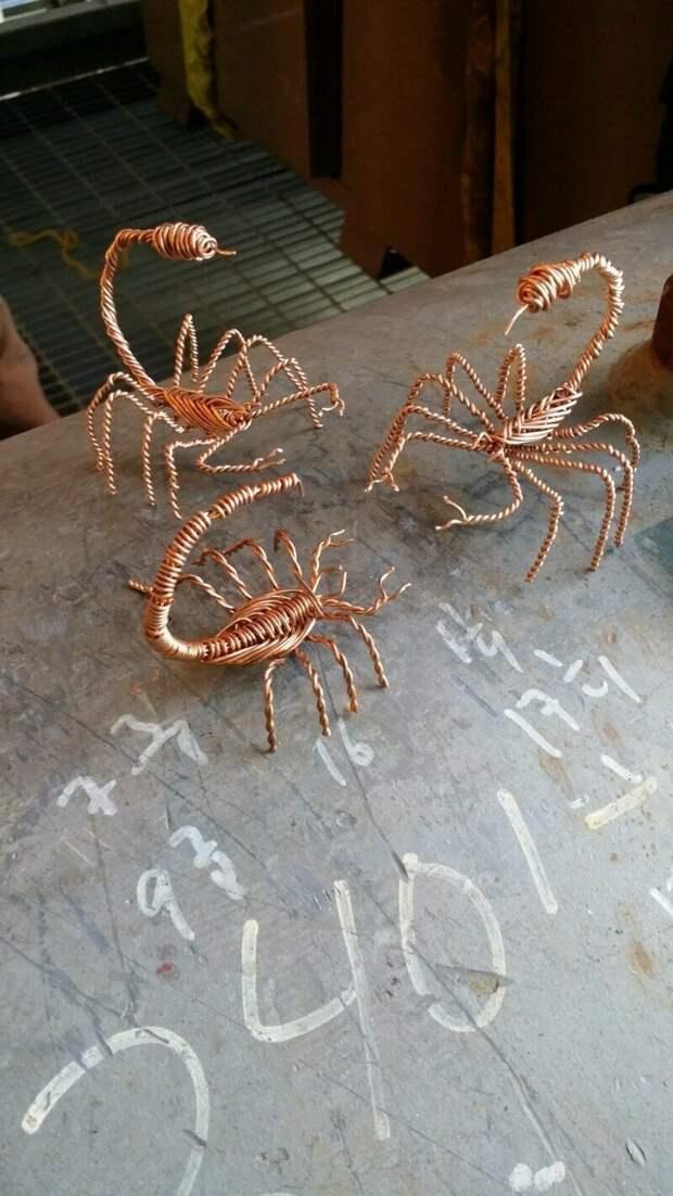Скорпионы из проволоки креатив, подборка, поделка, самоделки, сделай сам, скука, фото