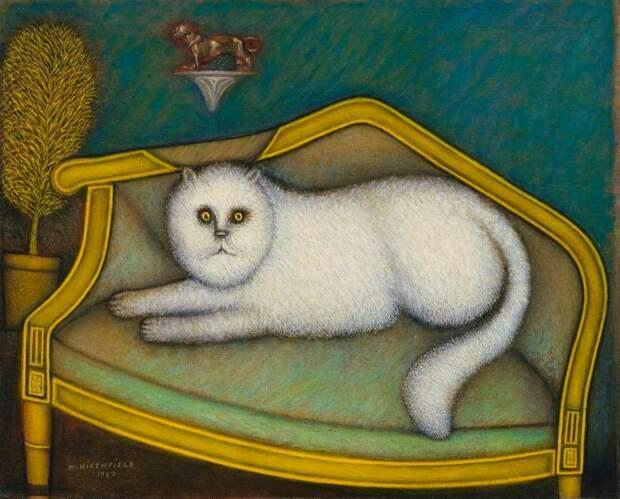 Неповторимые картины Морриса Хиршфилда, который начал рисовать отскуки в65 лет