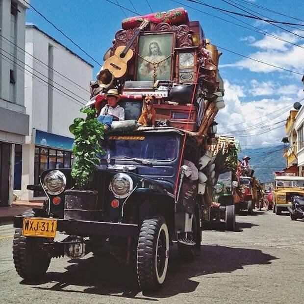 Парад в колумбийском городе Армения.