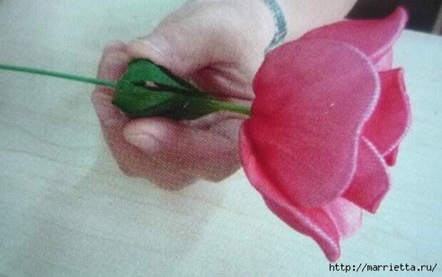Розы из капрона. Красивые идеи и мастер-класс (21) (492x309, 121Kb)