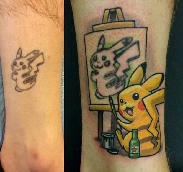Идея исправления татуировки