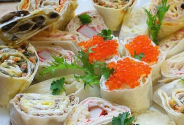 Заворачиваем в лаваш овощи, ветчину и сыр: 5 закусок уже на столе