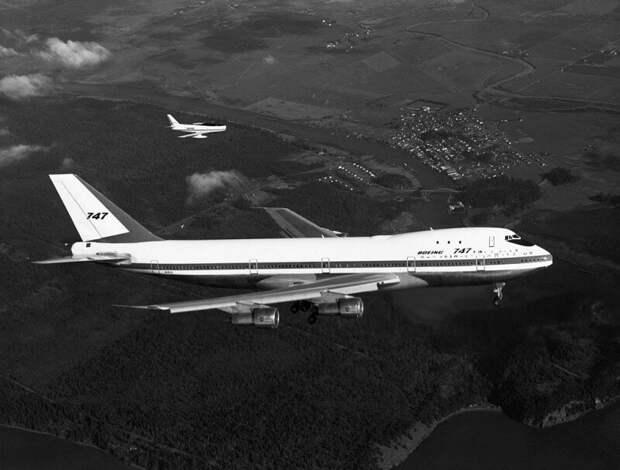 Первый полет самолета Boeing 747, 9 февраля 1969 года, США история, ретро, фото, это интересно