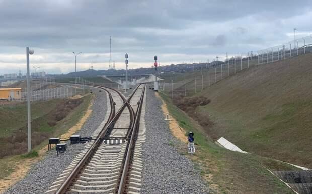 Железнодорожный подход к Крымскому мосту введён в эксплуатацию