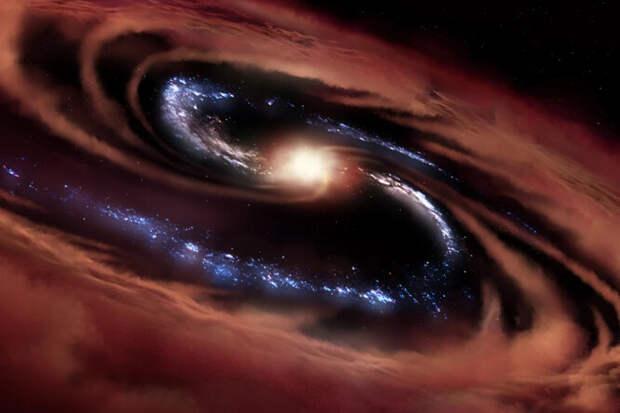 Найдена странная галактика, продолжающая порождать звезды вопреки чудовищной черной дыре вцентре