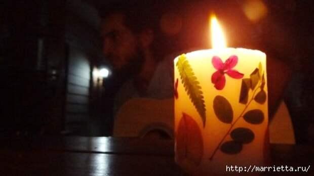 как сделать свечу с сухоцветами своими руками (4) (448x252, 49Kb)