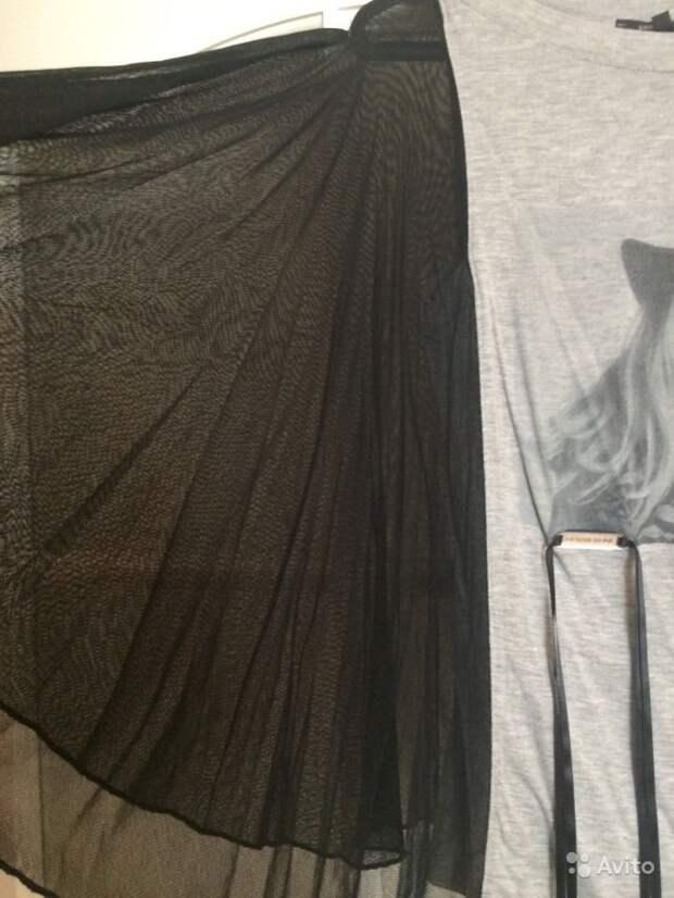 Идея переделки футболки с шифоном