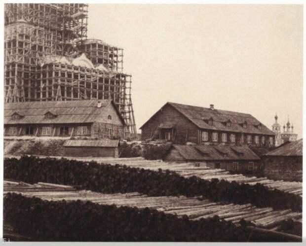 Строительство Храма Христа Спасителя, Москва, 1852 год история, ретро, фото, это интересно