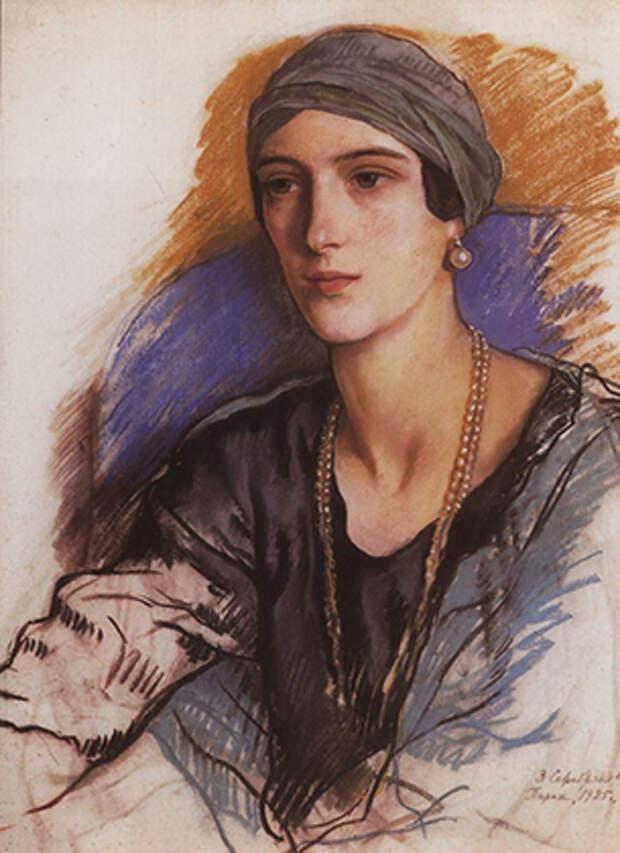 Княгиня Ирина Юсупова на портрете кисти Зинаиды Серебряковой