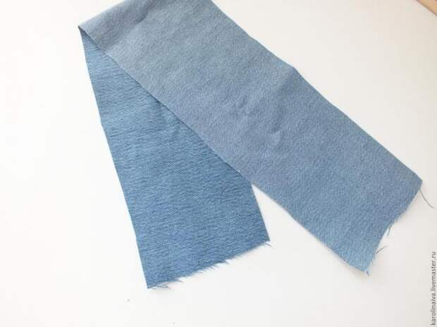 Украшения из джинсовой ткани. Мастер-класс