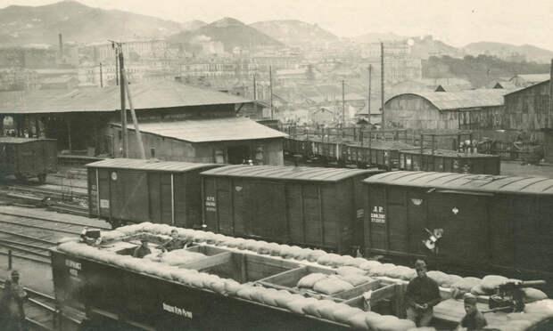 Хвостовая платформа бронепоезда