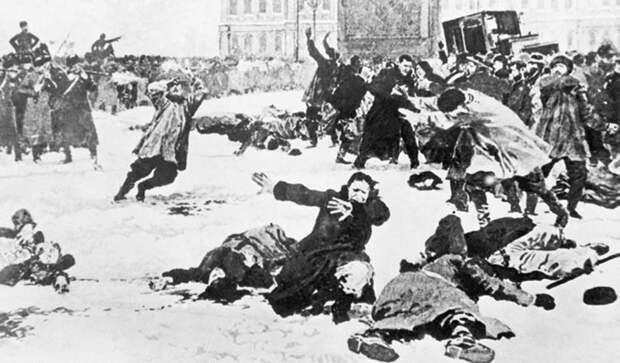 Расстрел мирной демонстрации. Санкт-Петербург, 9 января 1905 г. Архив ТАСС