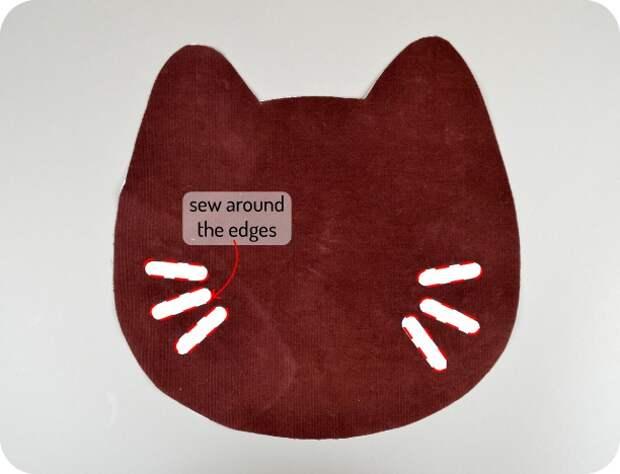 Сумка-кошка своими руками (выкройка, Diy)