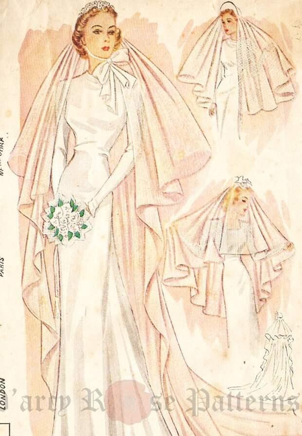 Свадебная фата 1930 года