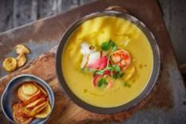 Горячие, Зимние, Рыбные - Крем-суп из топинамбура