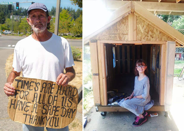 9-летняя девочка строит маленькие домики для бездомных(10 фото)