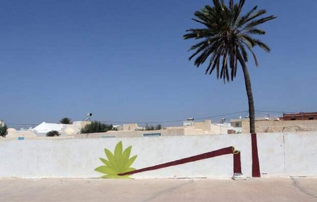 150 уличных художников из 30 стран, превратили старую деревушку Эр-Рияд в Тунисе в настоящую галерею под открытым небом (6)