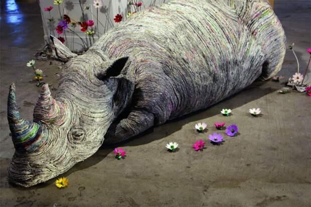 Чи Хитоцуямы: скульптуры из газет