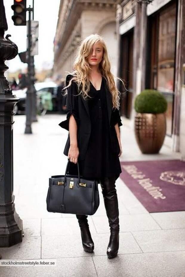 Total black street style