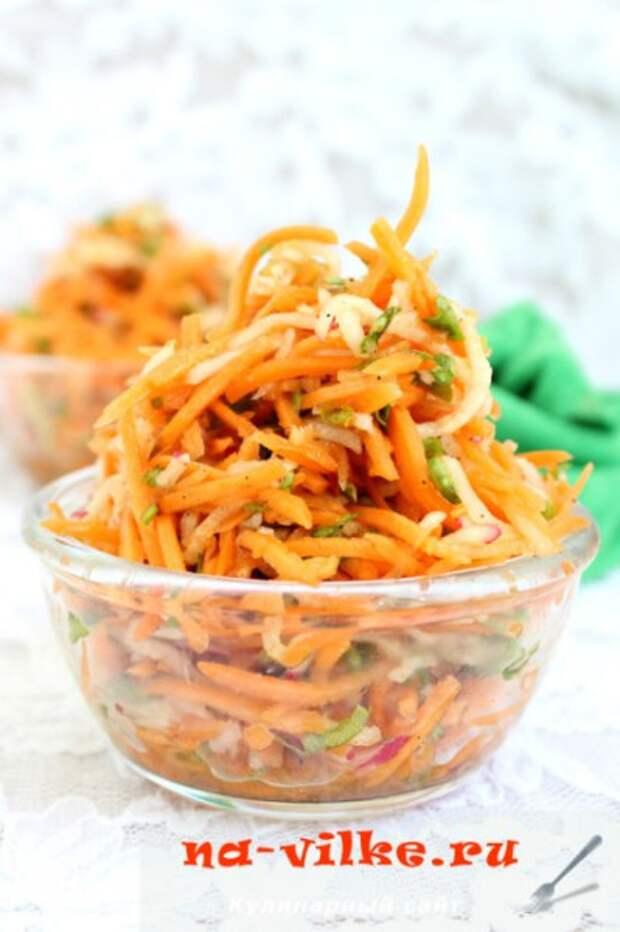 Салат из моркови с редисом