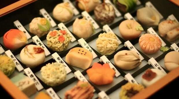 Традиционные сладости вкусно, еда, необычные продукты, сладости, япония