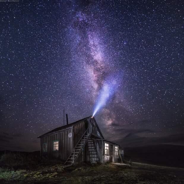 9. Звездное небо над Камчаткой. Фото: Даниил Коржонов