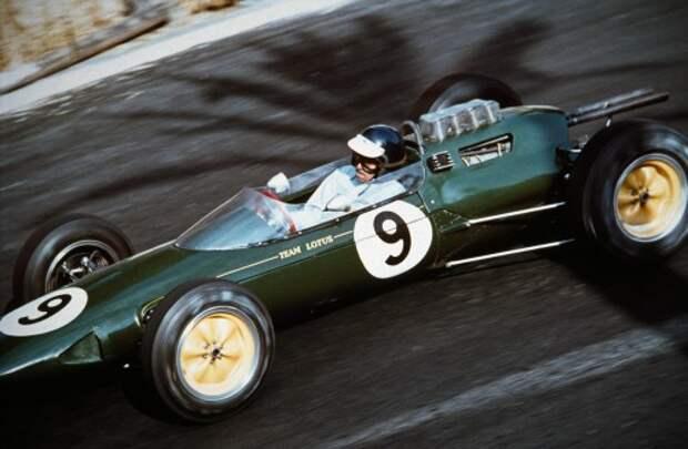 Джим Кларк на Lotus-Climax, 1963 год. Автор фотографии  Джесси Александер.