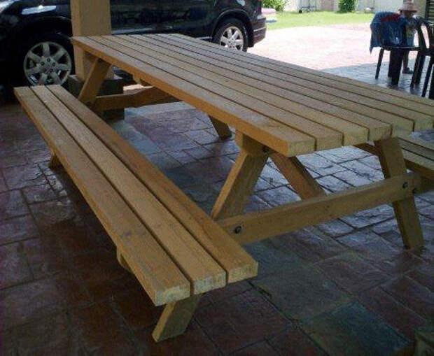 как сделать садовый стол для пикника