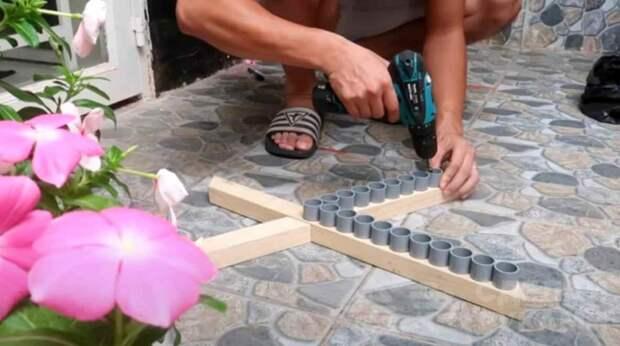 Цветочные вазоны из ПВХ труб: интересное решение для дачи и сада