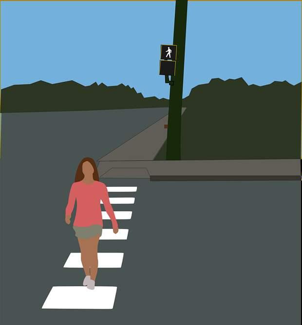 Пересечения, Пешеходный Переход, Пересечение