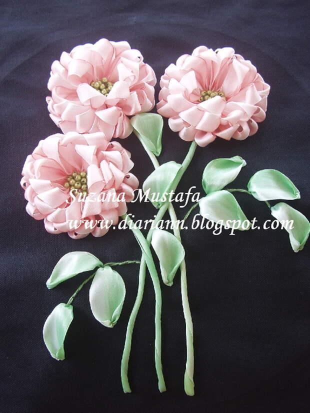 вышивка летнами. хризантемы (16) (525x700, 205Kb)