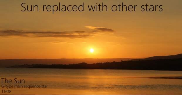 Это наше родное Солнце Альдебаран, закат, солнце