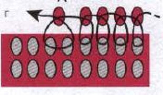 Схема убавления бисера