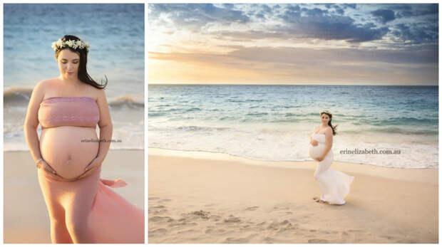 Да, вы не ослышались, пятерых. На фотографиях она на сроке 25 недель, и выглядит как настоящая богиня.  беременность, близнецы, фотографии