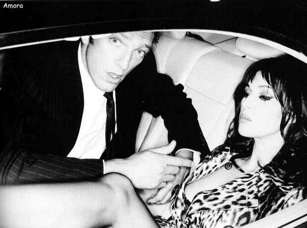 Моника Белуччи (Monica Bellucci) и Венсан Кассель (Vincent Cassel) в фотосессии Эллен фон Унверт (Ellen von Unwerth) для журнала Studio (2005), фото 4