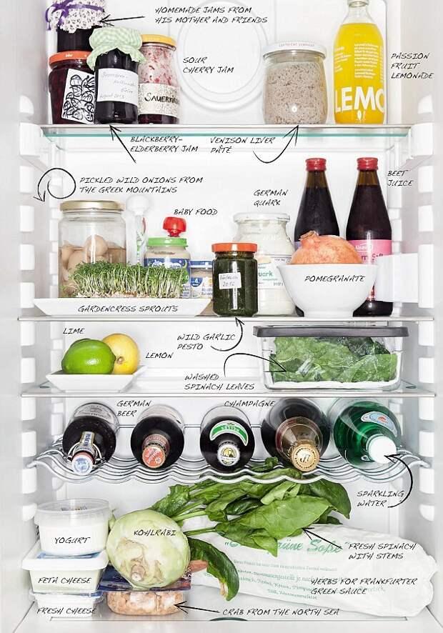 Что находится в холодильниках шеф-поваров