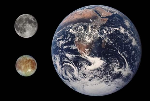Европа размером с нашу Луну, но воды на ней большще, чем на Земле