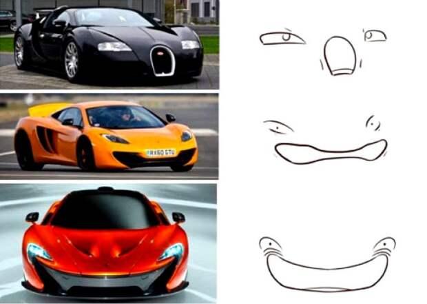 45 автомобилей, у которых есть свое лицо