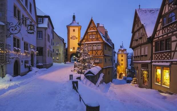 30 живописных зимних городов города, зима, мир