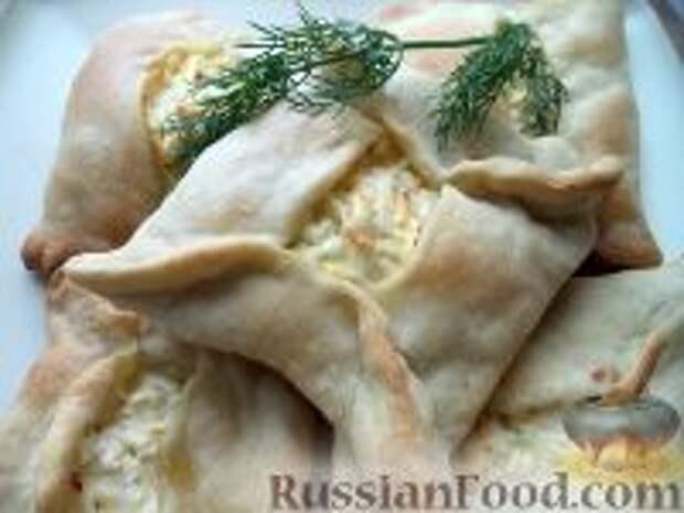 Фото приготовления рецепта: Хачапури из слоеного теста - шаг №9