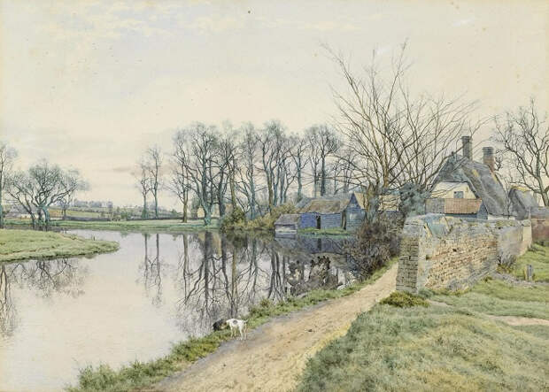 Старая мельница, Хемингфорд-Грей (The Old Mill, Hemingford Grey). 1881 (656x469, 342Kb)