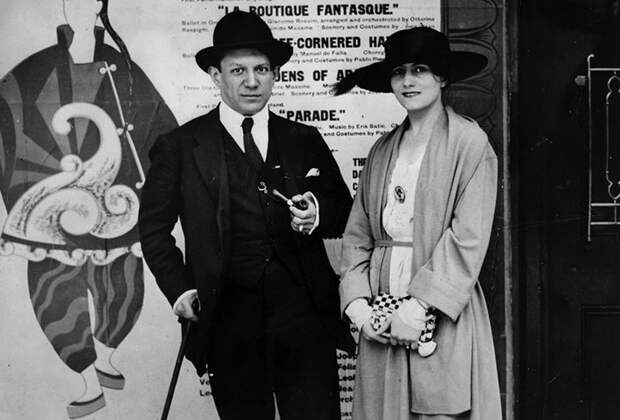 Пабло Пикассо и Ольга Хохлова, 1919 год.jpg