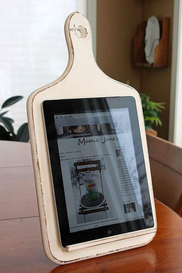 7. Кухонная подставка для планшета винтаж, посуда, совет, хитрости