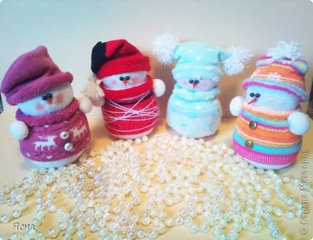 Мастер-класс Поделка изделие Новый год Шитьё И снова снеговики из носков + мои дополнения Носки фото 1