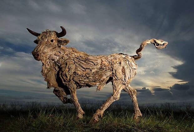 Скульптуры из обычных коряг Джеймса Доран-Вебба